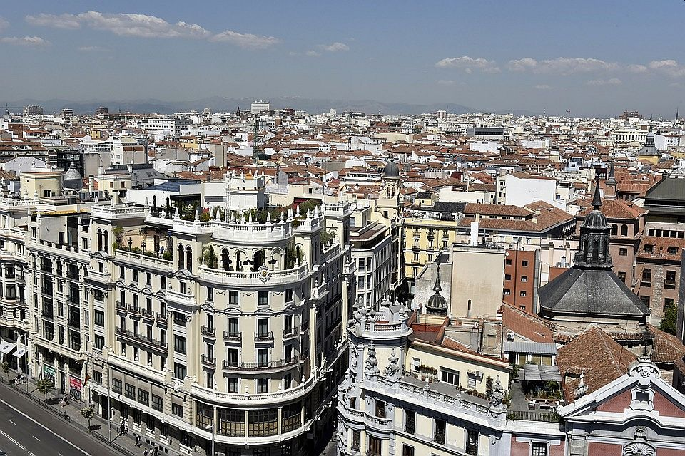 A general view of Madrid city