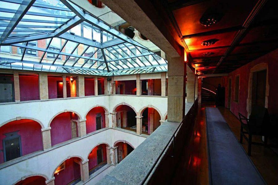 The five-star Cour des Loges Hotel in Lyon