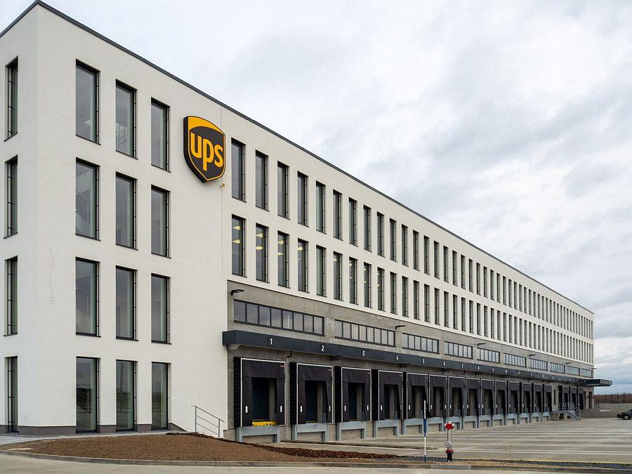 UPS' national HQ and logistics hub in Prague, Czech Republic
