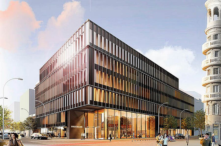 The office building in Barcelona's 22@ district